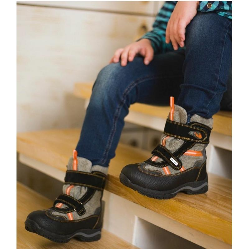Мембранные зимние ботинки Panda Orthopedic 254-20(26-30)оранж